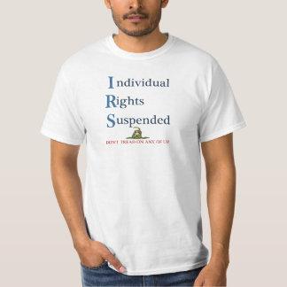 Direitos individuais do IRS suspendidos Camiseta