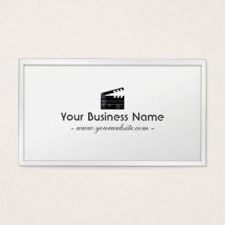 Diretor branco cartão de visita de Clapperboard da