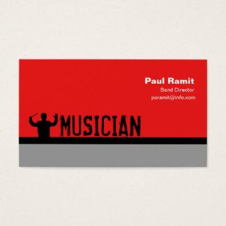 Diretor cartão de visita da banda do músico