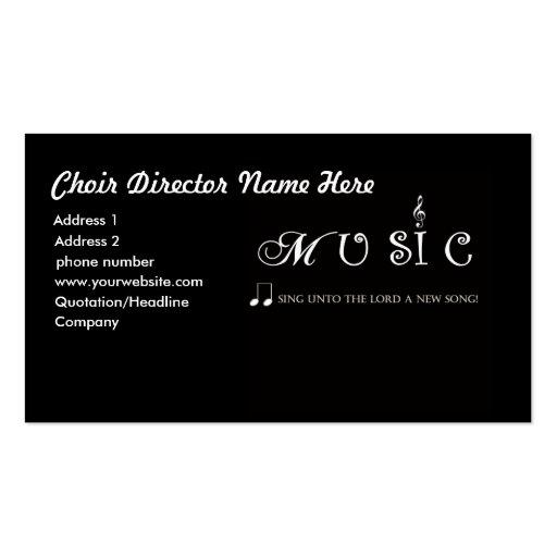 Diretor cartão de visita do coro