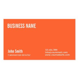Diretor comercial alaranjado liso cartão de visita