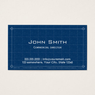 Diretor comercial cartão de visita do modelo