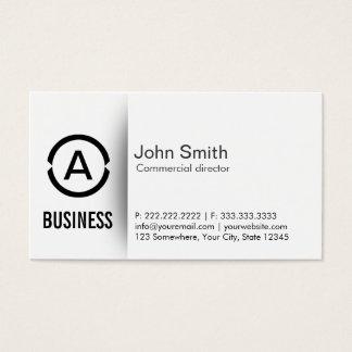 Diretor comercial cartão de visita do monograma