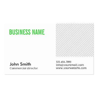 Diretor comercial cartão de visita do título verde