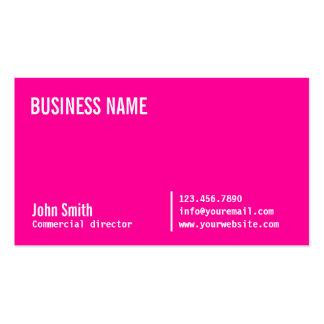 Diretor comercial cor-de-rosa de néon cartão de vi modelo cartões de visita