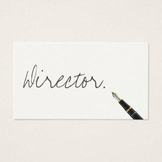 Diretor comercial escrito à mão cartão de visita