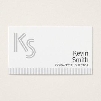 Diretor comercial liso moderno cartão de visita