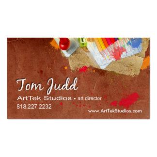 Diretor de arte: Pintor do artista gráfico do Cartão De Visita