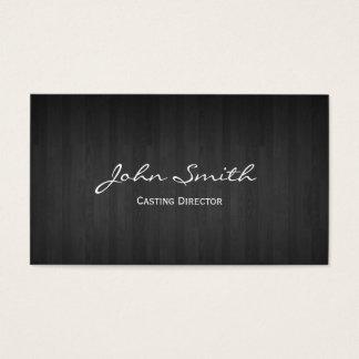 Diretor de carcaça de madeira escuro cartão de