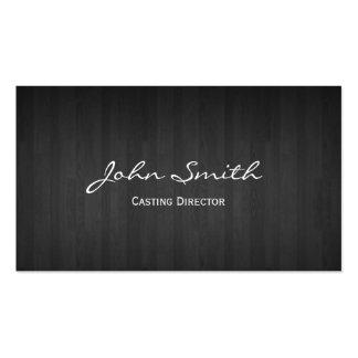 Diretor de carcaça de madeira escuro cartão de vis cartão de visita