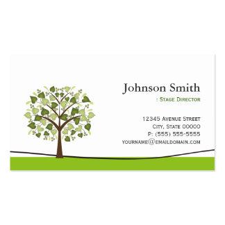 Diretor de palco - árvore elegante do desejo cartão de visita
