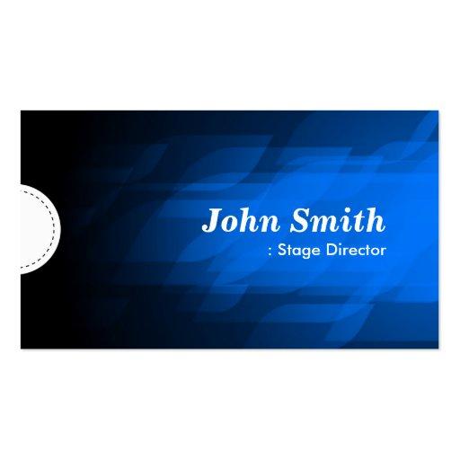 Diretor de palco - azul escuro moderno modelo cartões de visita