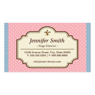 Diretor de palco - bolinhas bonitos cartão de visita