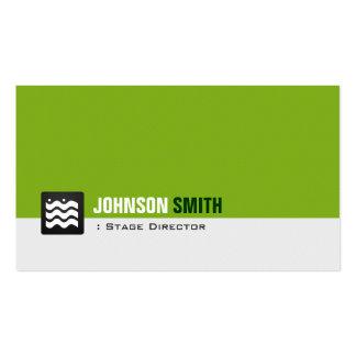 Diretor de palco - branco verde orgânico modelos cartão de visita