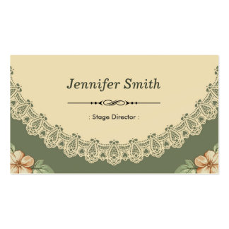 Diretor de palco - chique do vintage floral cartão de visita