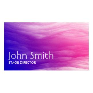 Diretor de palco colorido abstrato cartão de visit cartão de visita