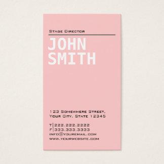 Diretor de palco cor-de-rosa liso cartão de visita