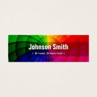 Diretor de palco - cores radiais do arco-íris cartão de visitas mini