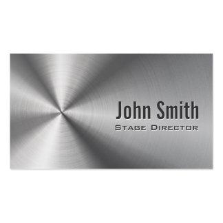 Diretor de palco de aço inoxidável cartão de visit cartao de visita