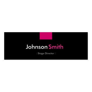 Diretor de palco - estojo compacto do rosa cartão de visita skinny