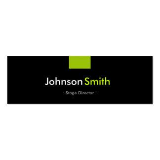 Diretor de palco - estojo compacto verde da cartão de visita skinny