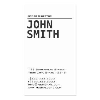 Diretor de palco liso simples cartão de visita