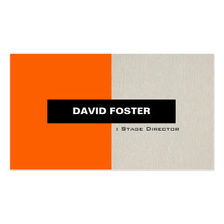 Diretor de palco - na moda elegante simples cartão de visita