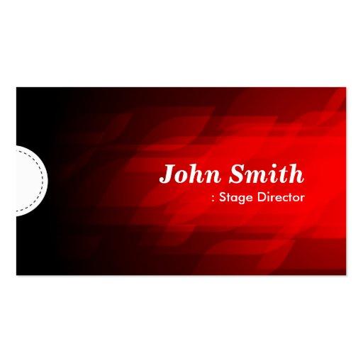 Diretor de palco - obscuridade moderna - vermelho modelos cartões de visitas