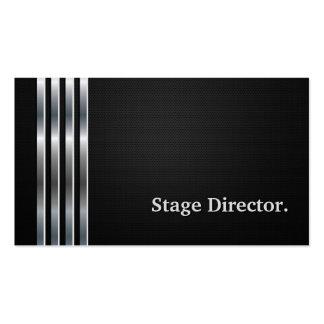 Diretor de palco prata preta profissional cartão de visita