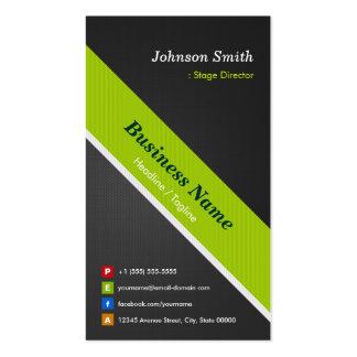 Diretor de palco - preto e verde superiores cartão de visita