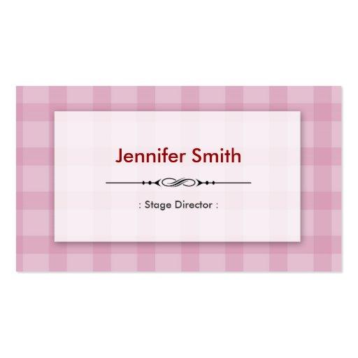 Diretor de palco - quadrados cor-de-rosa bonito modelo cartoes de visitas