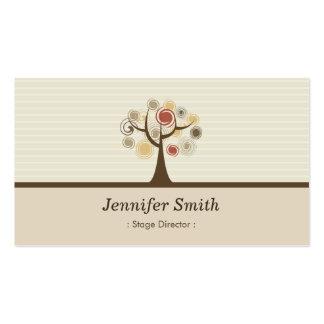 Diretor de palco - tema natural elegante cartão de visita