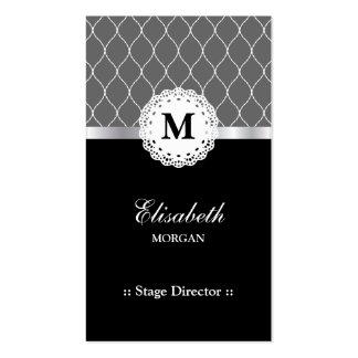 Diretor de palco - teste padrão preto elegante do cartão de visita