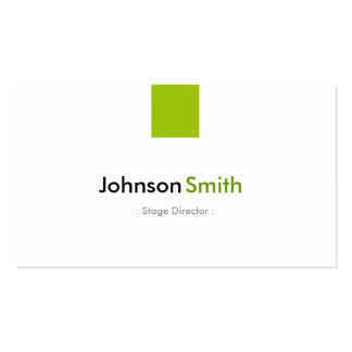 Diretor de palco - verde simples da hortelã cartão de visita