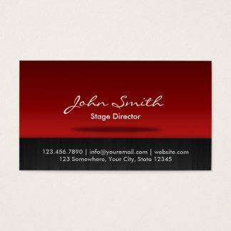 Diretor de palco vermelho cartão de visita do