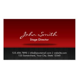 Diretor de palco vermelho cartão de visita do palc