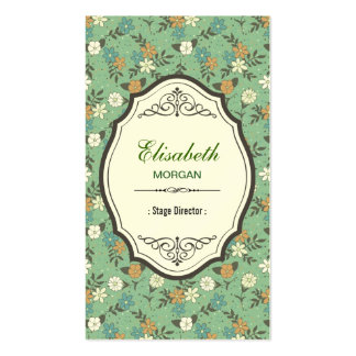 Diretor de palco - vintage elegante floral cartão de visita