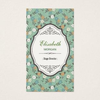 Diretor de palco - vintage elegante floral cartão de visitas