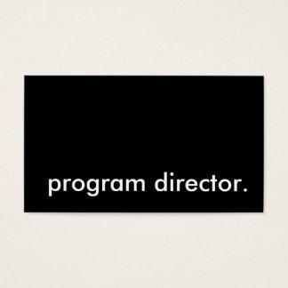 diretor de programa cartão de visitas
