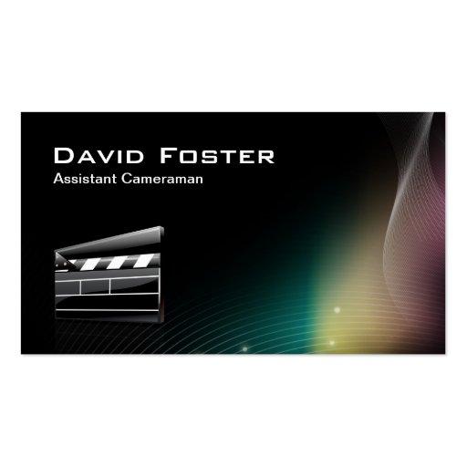Diretor do operador cinematográfico assistente do  cartoes de visita
