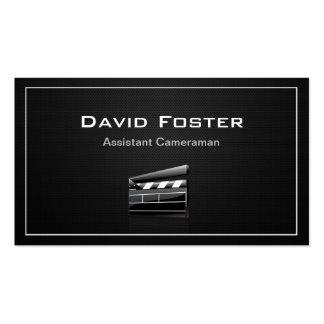Diretor do operador cinematográfico assistente do  modelo cartões de visitas