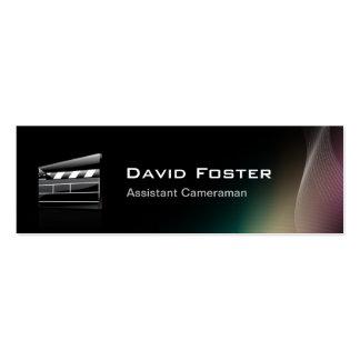 Diretor do operador cinematográfico assistente do cartão de visita skinny