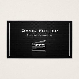 Diretor do operador cinematográfico assistente do cartão de visitas