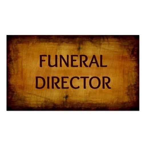 Diretor fúnebre cartão de visita