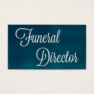 Diretor fúnebre cartão de visita escovado