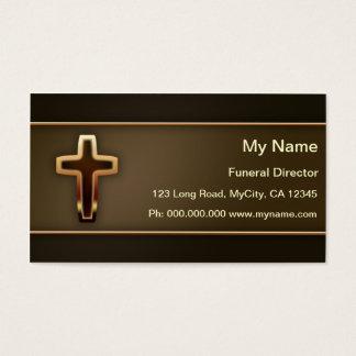 Diretor fúnebre cartão de visitas