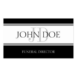 Diretor fúnebre listra W/W Cartoes De Visita