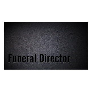 Diretor fúnebre obscuridade profissional cartão de visita