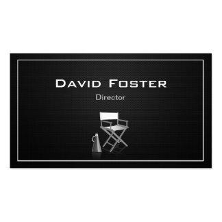 Diretor na produção teatral da televisão do filme modelo cartões de visita
