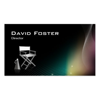 Diretor na produção teatral da televisão do filme cartão de visita